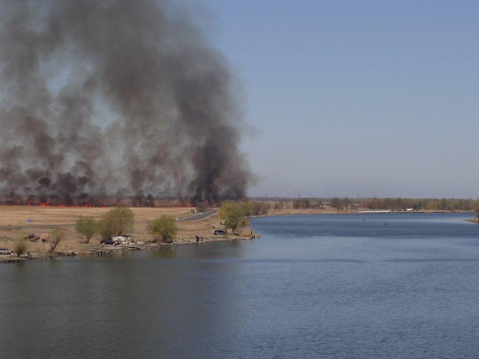 В Одесской области горел национальный природный парк