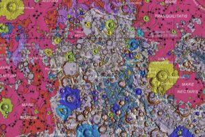 Ученые создали точнейшую геологическую карту Луны
