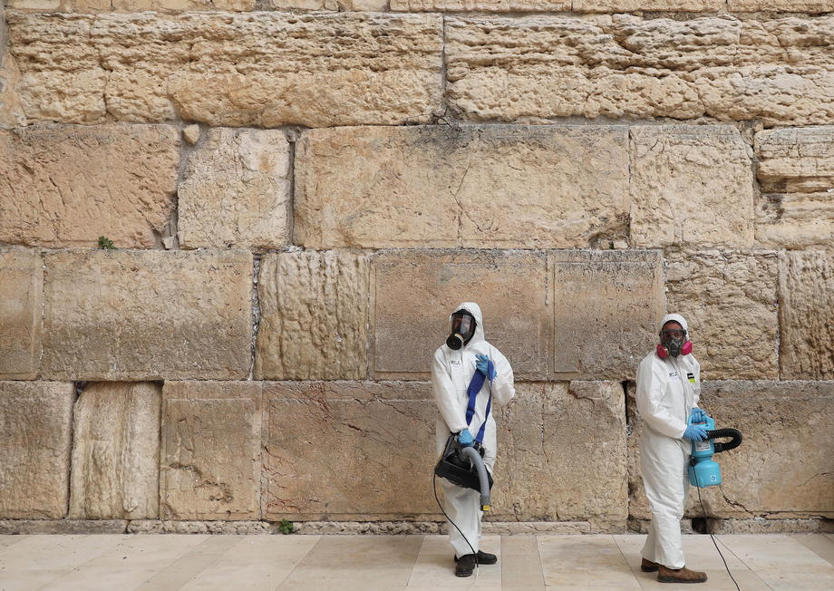 В Иерусалиме продезинфицировали Стену Плача
