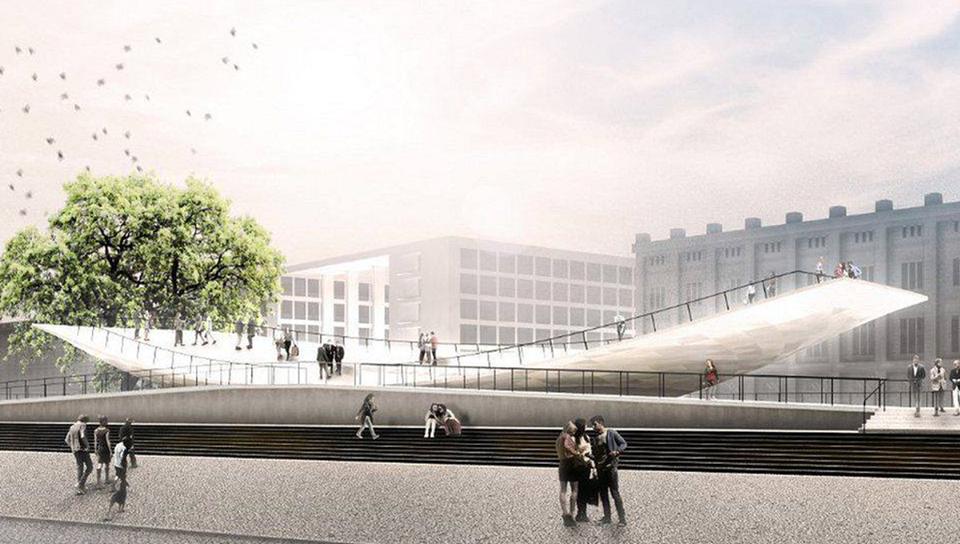 В Берлине установят памятник, устроенный по принципу качелей