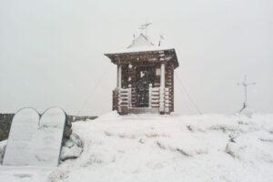 В Карпатах выпал майский снег