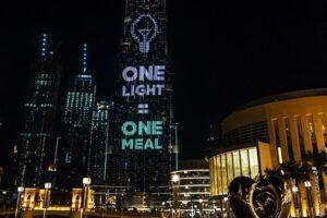 Небоскреб Бурдж-Халифа стал сияющей копилкой для пожертвований