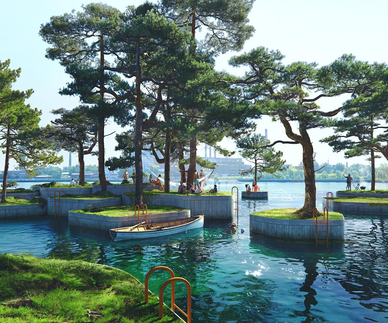 В Копенгагене появятся плавучие парки