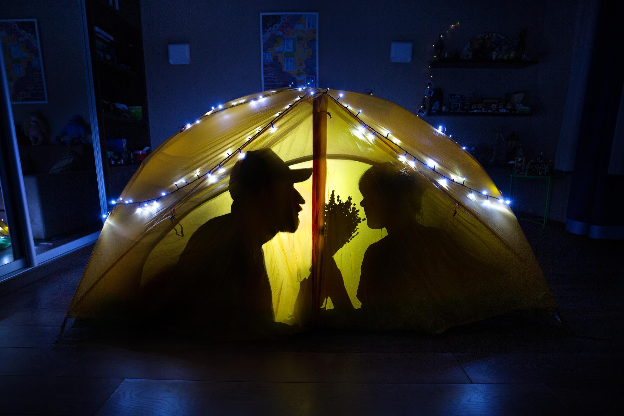 самоизоляция в палатке