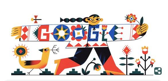 Google посвятил дудл Дню вышиванки