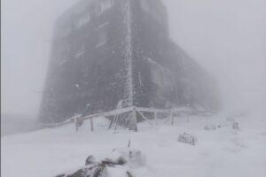 В Карпатах выпало по колено снега
