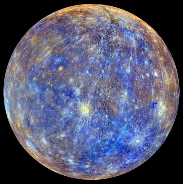 NASA представило цветовую карту Меркурия.Вокруг Света. Украина