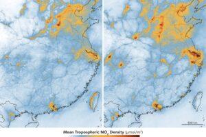 Качество воздуха в Китае возвращается на докарантинный уровень