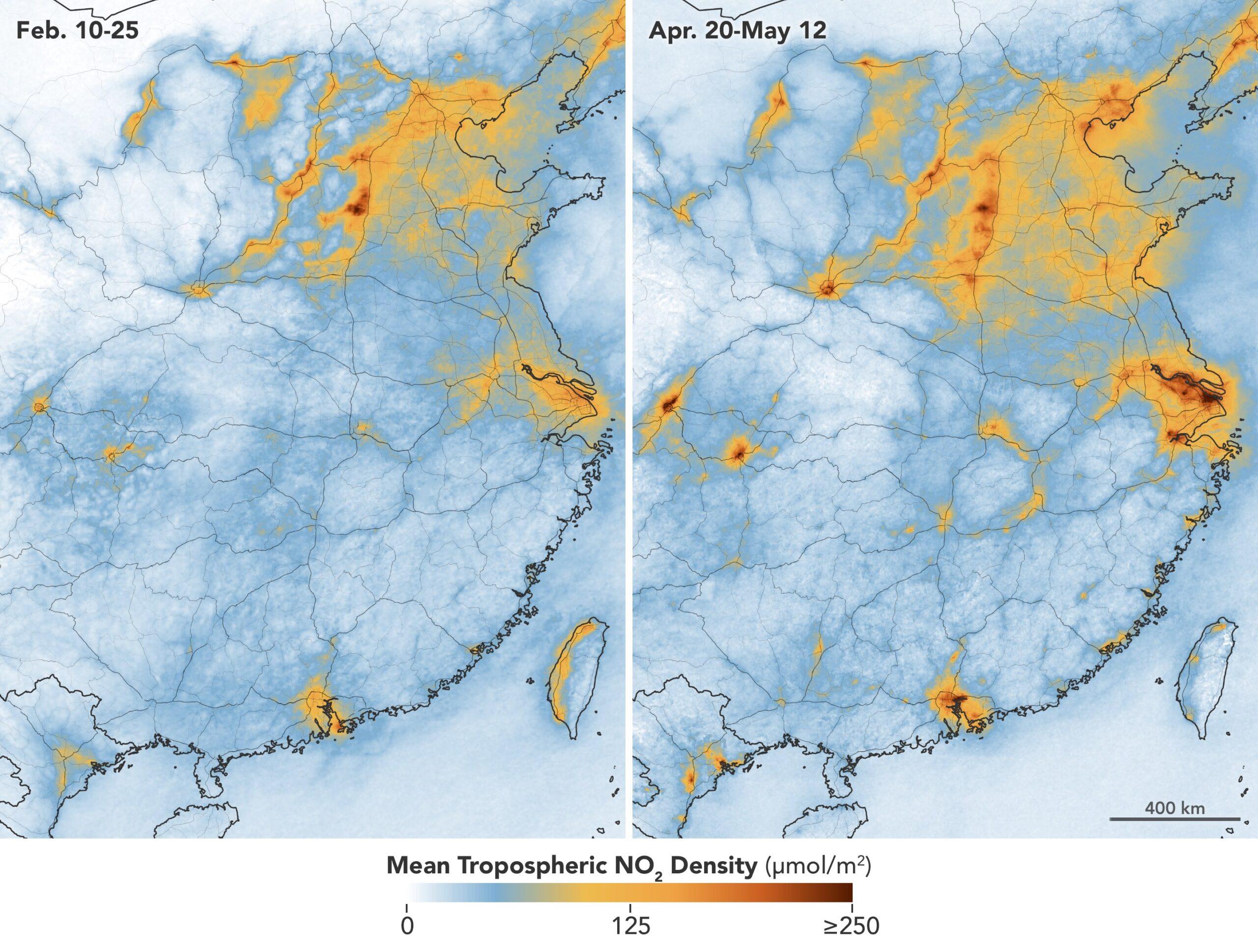 Качество воздуха в Китае возвращается на докарантинный уровень.Вокруг Света. Украина