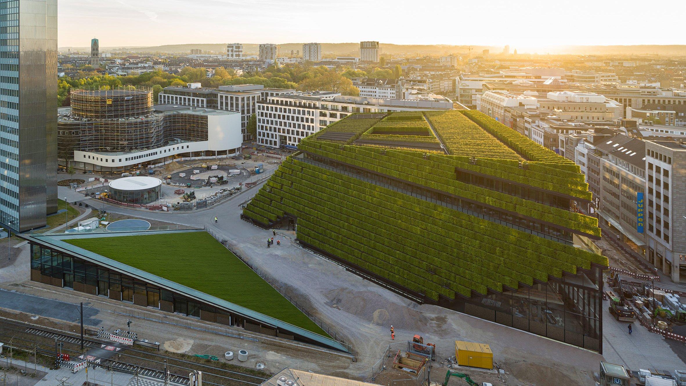 В Германии фасад офисного здания полностью покрыли растениями
