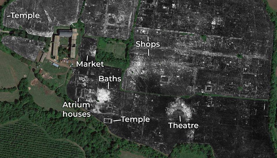 Ученые впервые картографировали древнеримский город с помощью георадара.Вокруг Света. Украина
