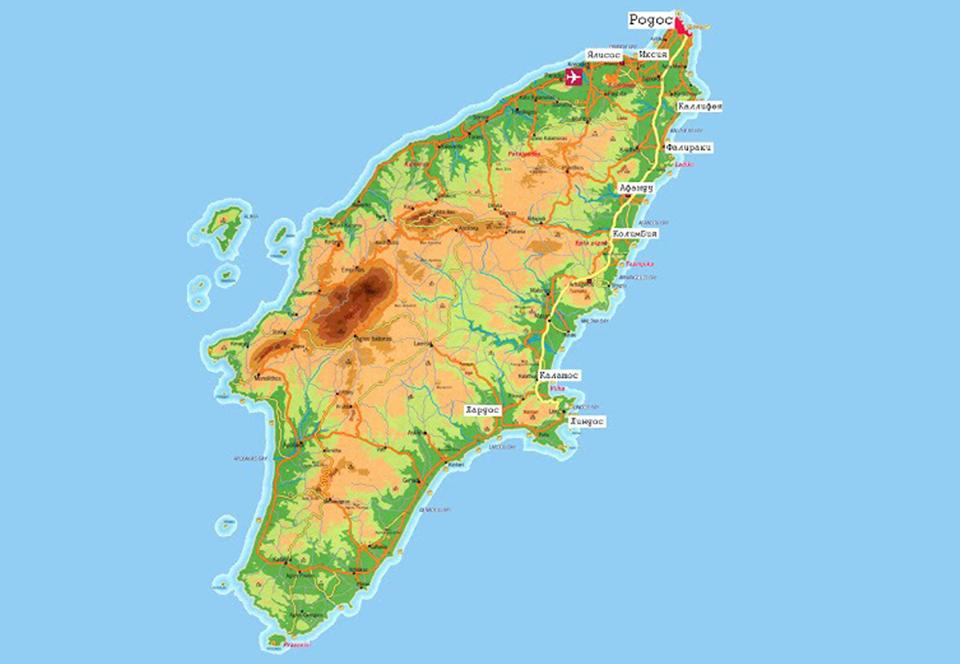 родос карта