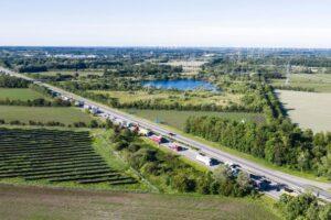 На границе Германии и Дании выстроилась очередь из туристов до 8 км