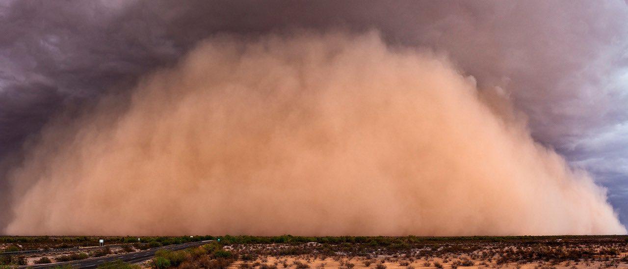 Облако пыли длиной более 6 тысяч км движется на Вашингтон