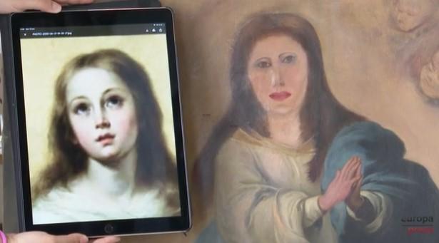 Картофельная Мадонна: в Испании реставратор изуродовал картину ХVII века