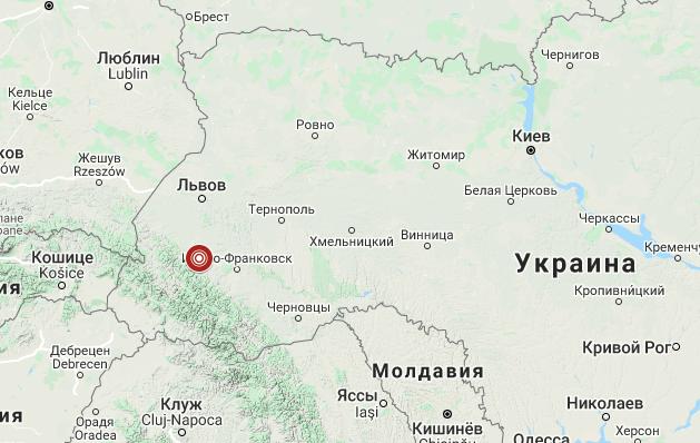 В Ивано-Франковской области произошло второе за сутки землетрясение
