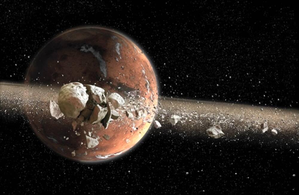 Вокруг древнего Марса было кольцо как у Сатурна