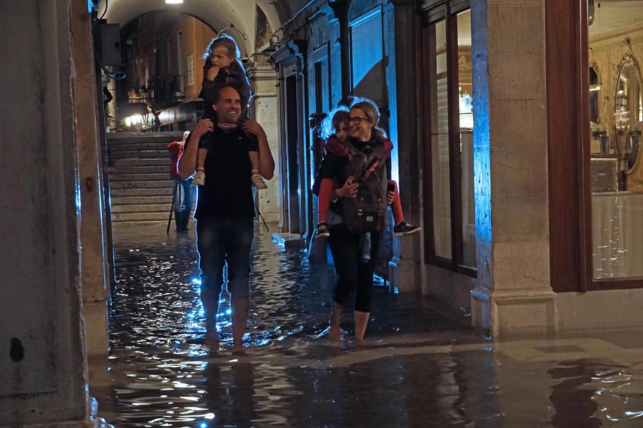 Рекордный прилив: Венецию снова затопило