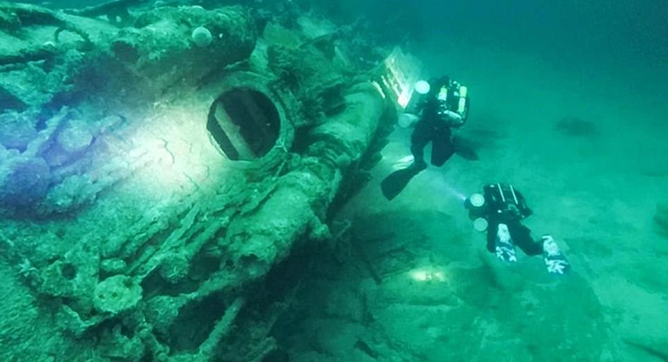 Британцы исследовали немецкую подлодку, затонувшую в 1945 году
