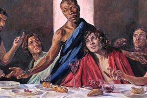В британском соборе появилась «Тайная вечеря» с темнокожим Иисусом