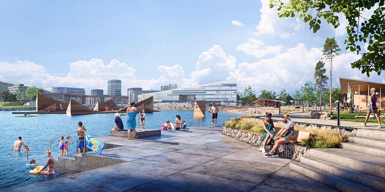 На набережной Бергена появится парк водных развлечений