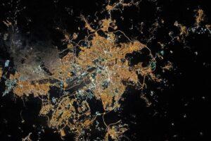 Ночная Анкара: вид из космоса