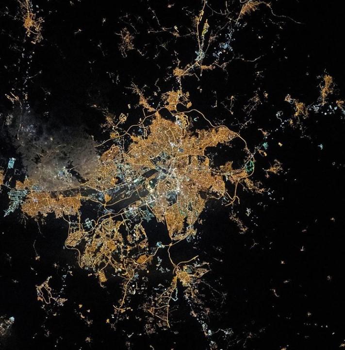 Ночная Анкара: вид из космоса.Вокруг Света. Украина