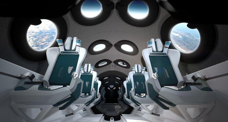 Virgin Galactic показала дизайн космоплана для туристов