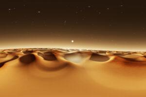 Спутник зафиксировал на Марсе огромные песчаные волны