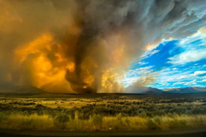 Редкий огненный торнадо пронесся в районе пожара в Калифорнии