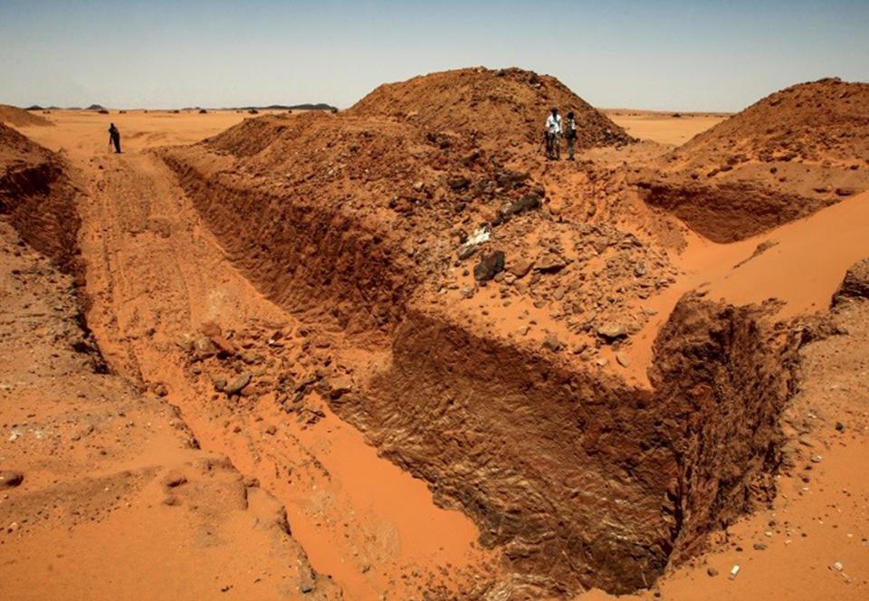 В Судане черные золотоискатели разрушили древнее поселение