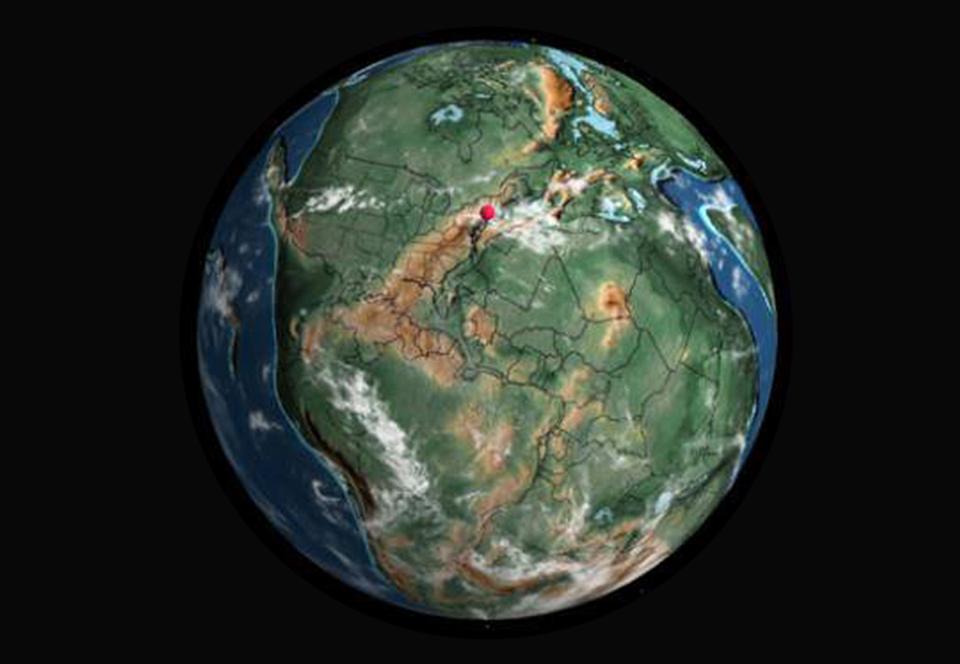 Создана карта, которая показывает Землю миллионы лет назад