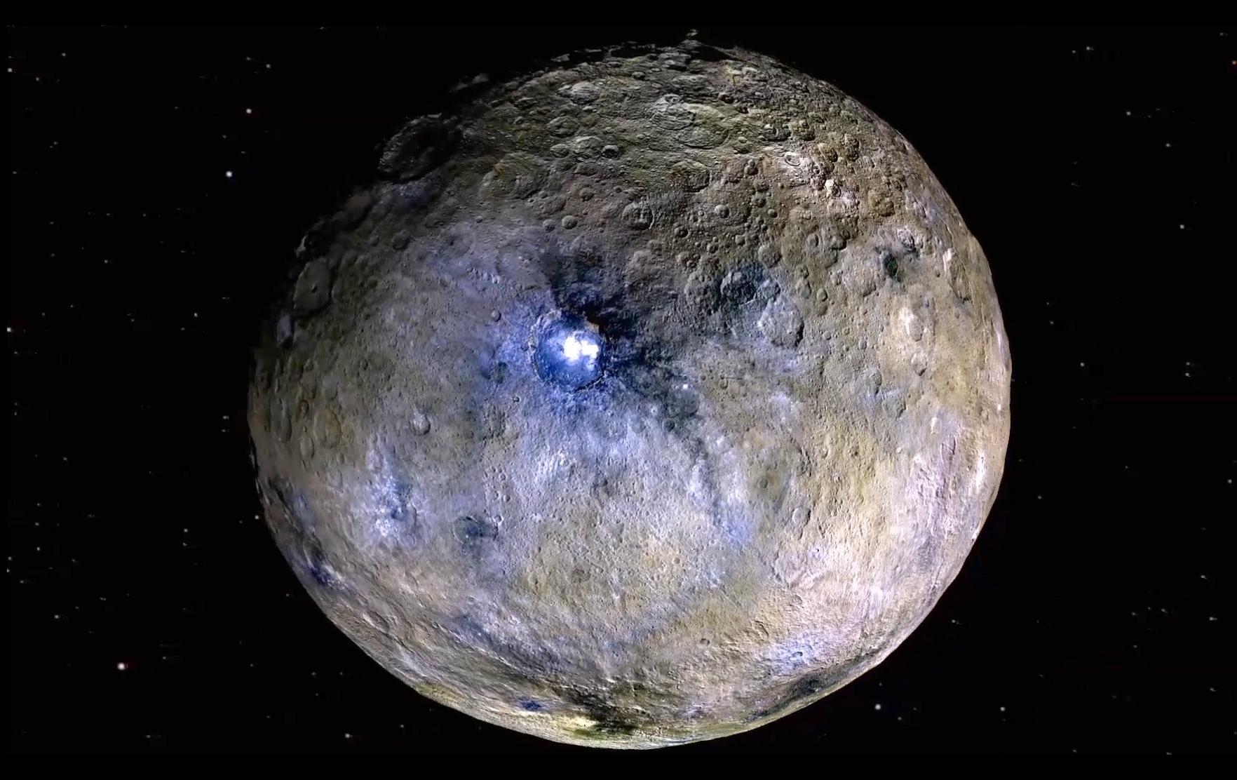 На карликовой планете Церера нашли воду