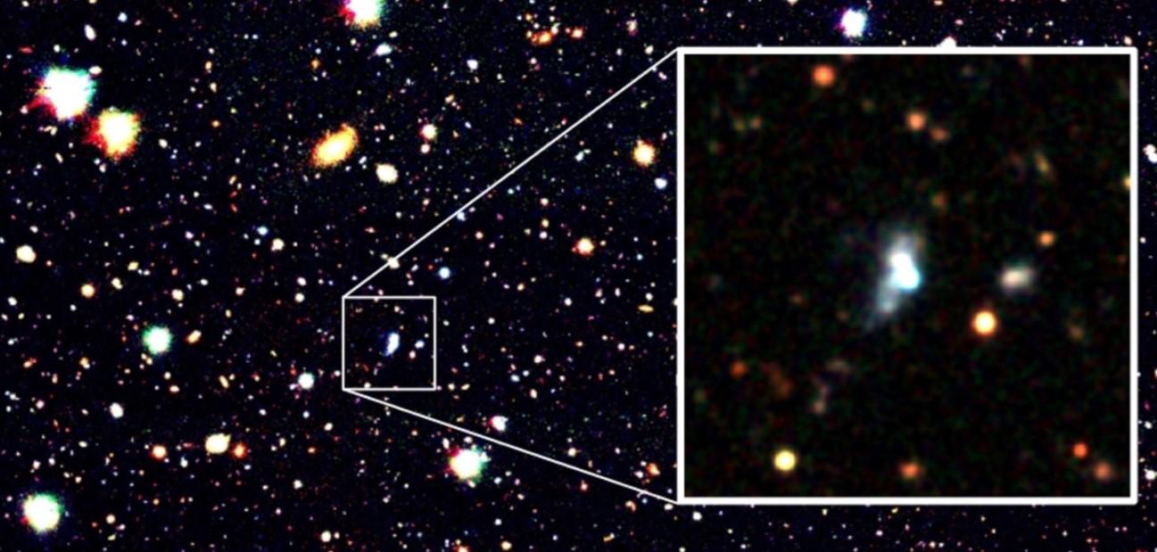 Астрономы нашли редчайшую молодую галактику.Вокруг Света. Украина