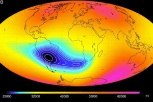 В магнитном поле Земли обнаружили вмятину