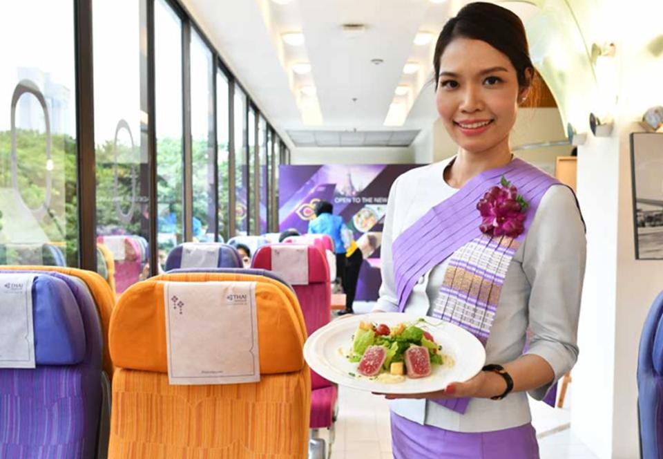 В Таиланде авиакомпания открыла ресторан с бортовой кухней