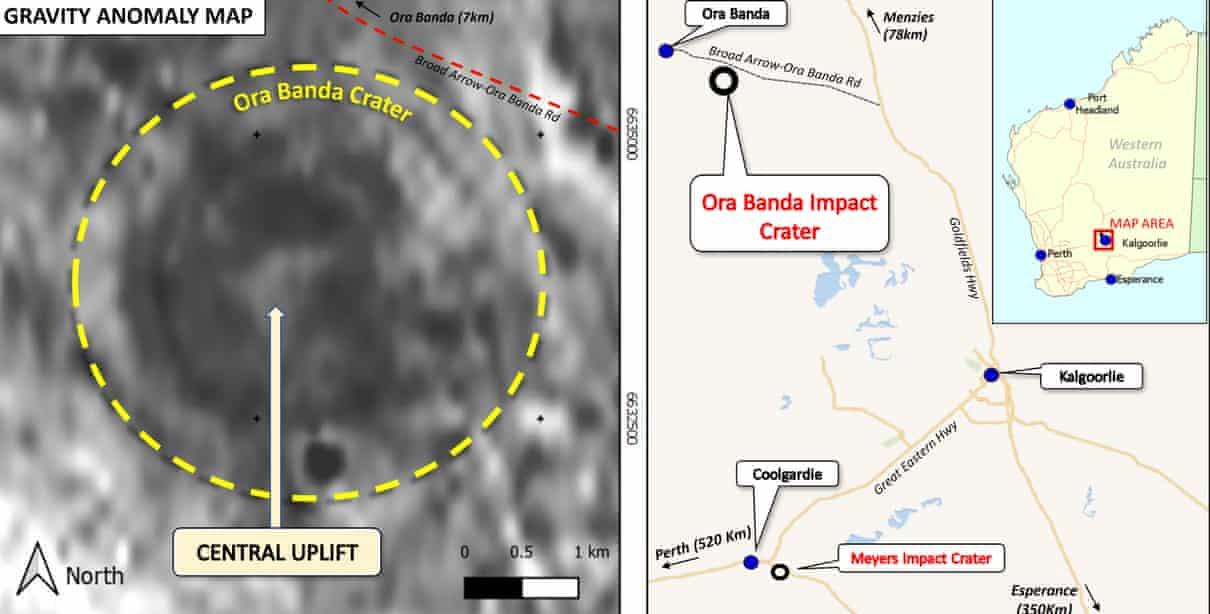 В Австралии обнаружили метеоритный кратер возрастом 100 млн лет.Вокруг Света. Украина