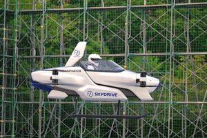 В Японии испытали летающий автомобиль с пилотом на борту