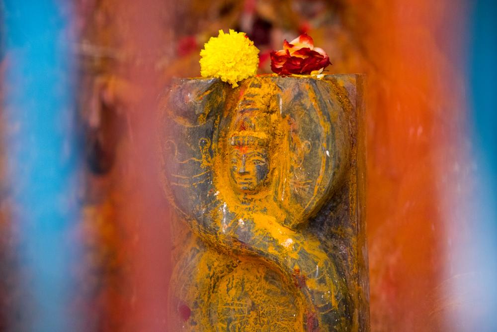 В Индии нашли пещерный храм со статуей змеи