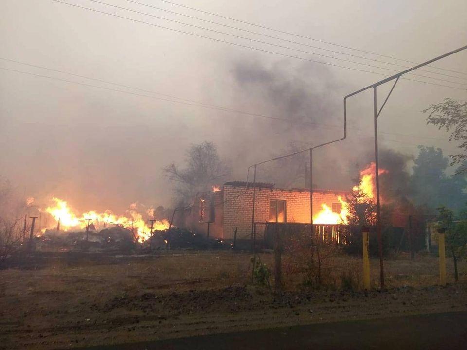 Пожары в Луганской области: погибли пять человек.Вокруг Света. Украина