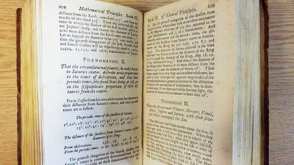 Редкое издание главной книги Исаака Ньютона ушло с молотка