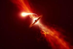 Астрономы увидели спагеттификацию звезды, поедаемой черной дырой