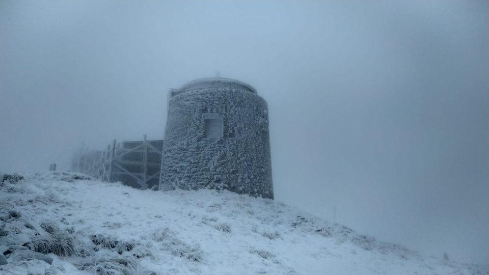В Карпатах прошел зимний снегопад