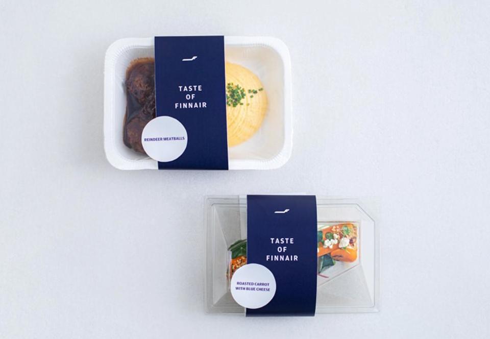 Имитация полета: в финских супермаркетах продают еду для авиарейсов