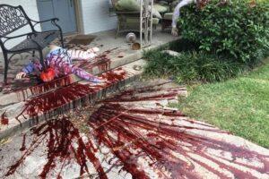 В США полиция приняла декор к Хэллоуину за следы преступления