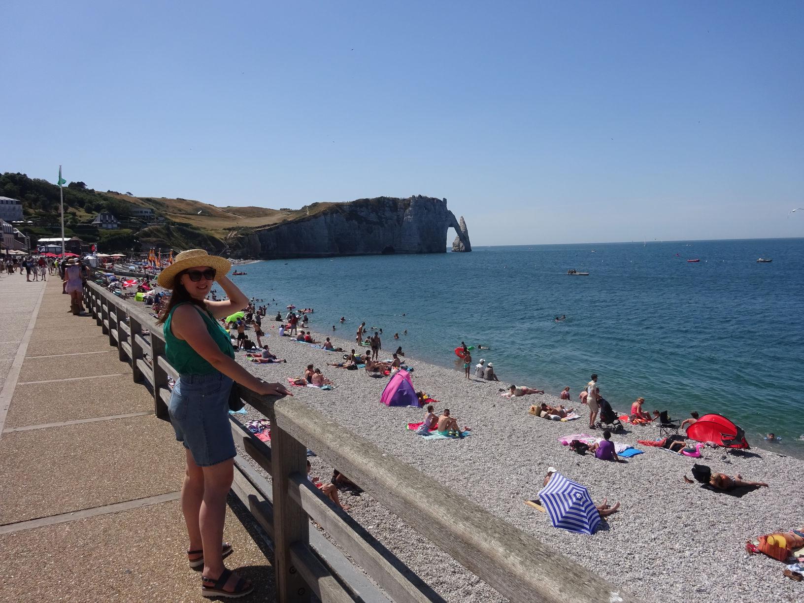 Этрета пляж Нормандия
