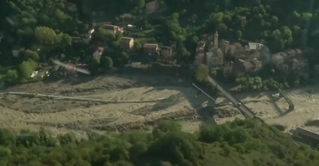 Последствия шторма во французских Альпах: вид с воздуха