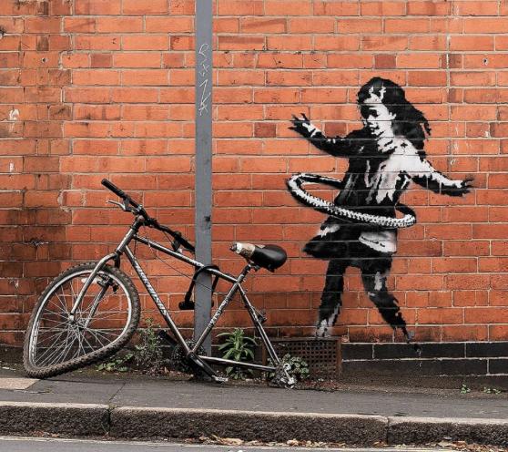 Бэнкси нарисовал новое граффити в Ноттингеме и «спалился»