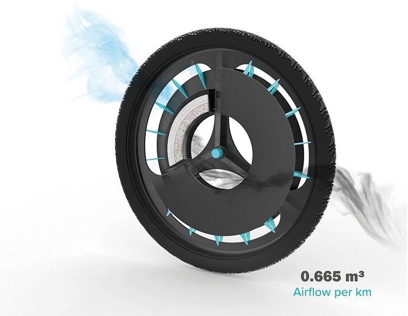 Британка изобрела велосипедное колесо, которое очищает воздух