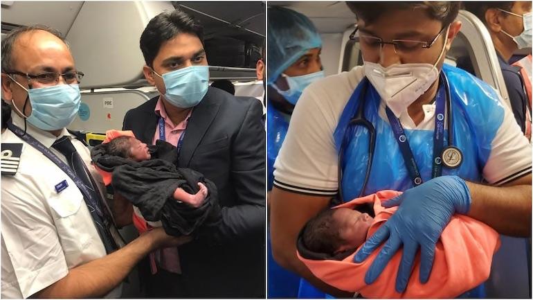 Женщина родила ребенка в самолете на рейсе из Дели в Бангалор.Вокруг Света. Украина